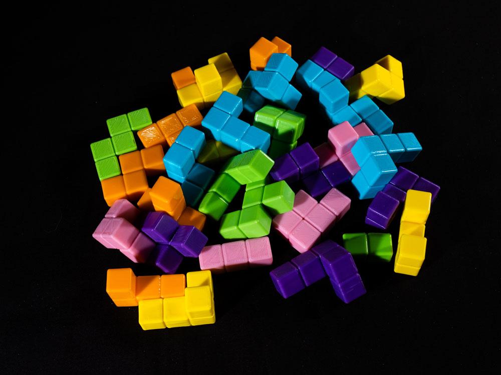 Blokk! board game 3D blocks